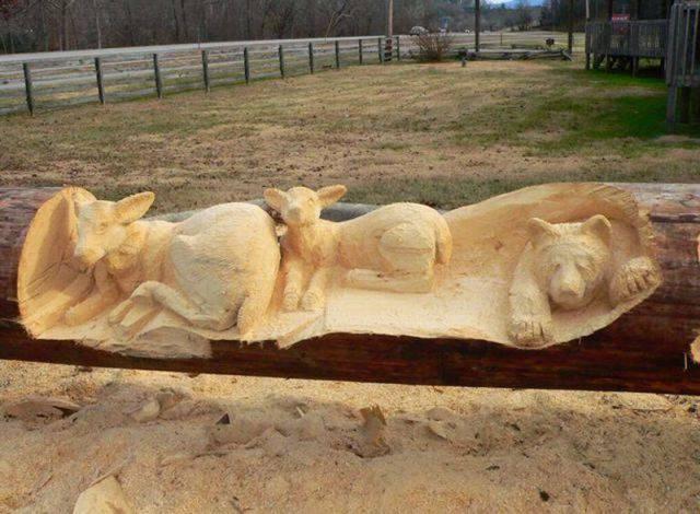 Niesamowite rzeźby w drewnie. 6