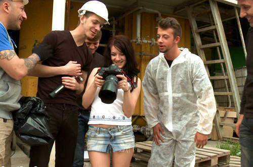 Lina - Tiny Russian Girl Ganbanged - Kink/ BoundGangBangs (2012/ HD 720p)