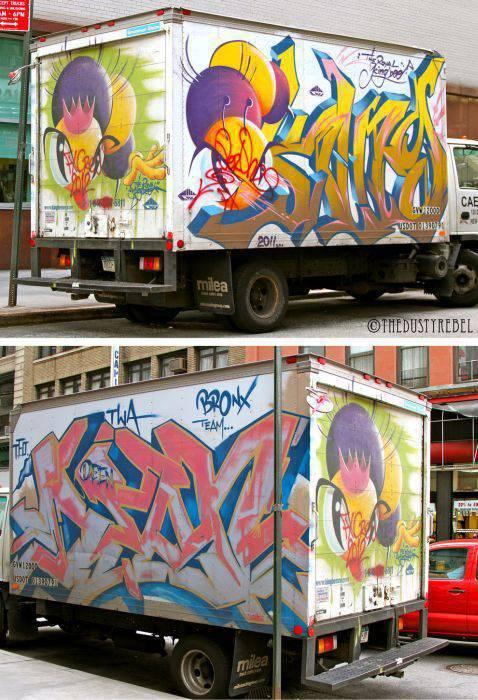 Graffiti na samochodach 21