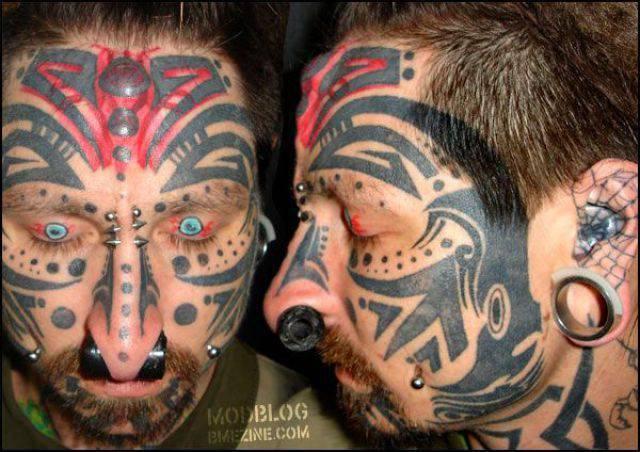 Tatuaże na twarzy 17