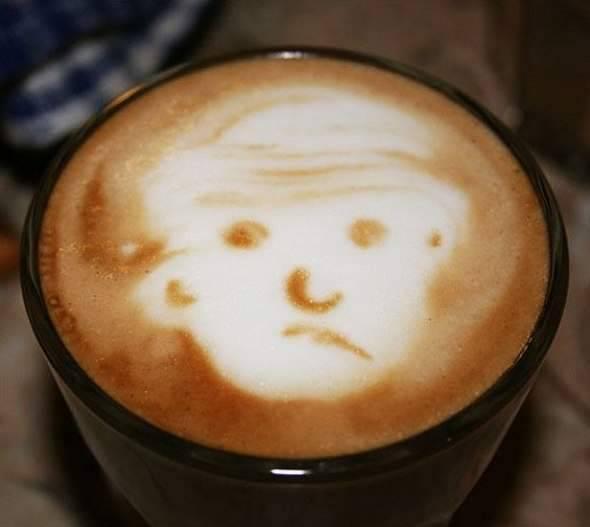 Coffee art - rysowanie na kawie 45