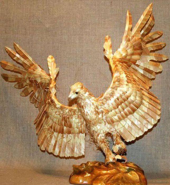 Szczegółowe, drewniane rzeźby. 2