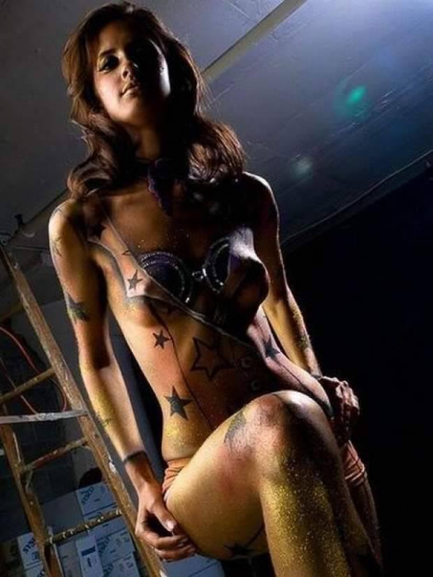Kobiecy Bodypainting 5