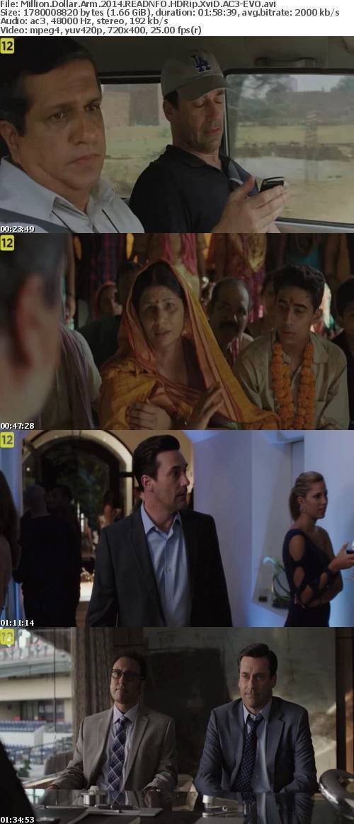 Million Dollar Arm 2014 READNFO HDRip XviD AC3-EVO
