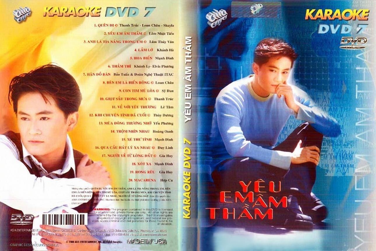 """ASIA 07 Karaoke """" Yêu Em Âm Thầm """" DVD9"""