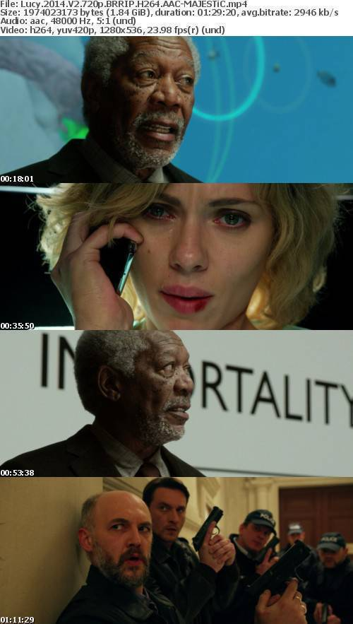 Lucy 2014 V2 720p BRRIP H264 AAC MAJESTiC