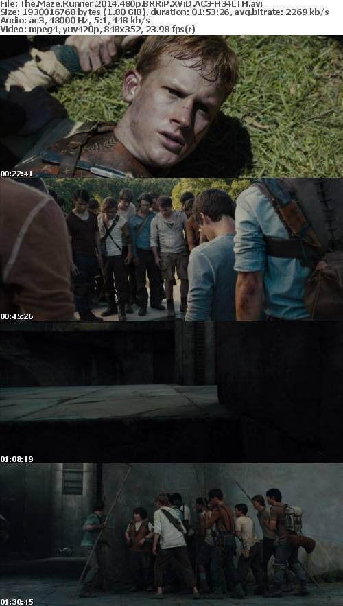 The Maze Runner 2014 480p BRRiP XViD AC3-H34LTH