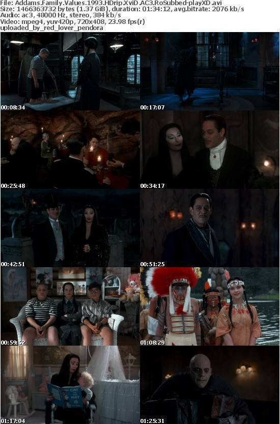 Addams Family Values 1993 HDrip XviD AC3 RoSubbed-playXD