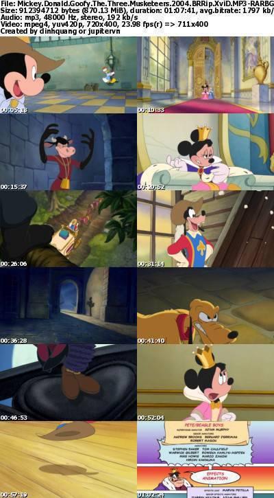 Mickey, Donald, Goofy The Three Musketeers (2004) BRRip XviD MP3-RARBG