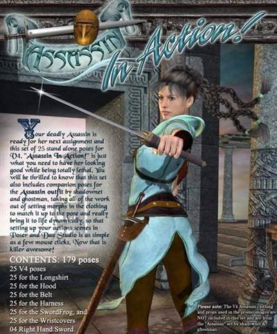 renderosity - Assassin In Action! 11.90 USD
