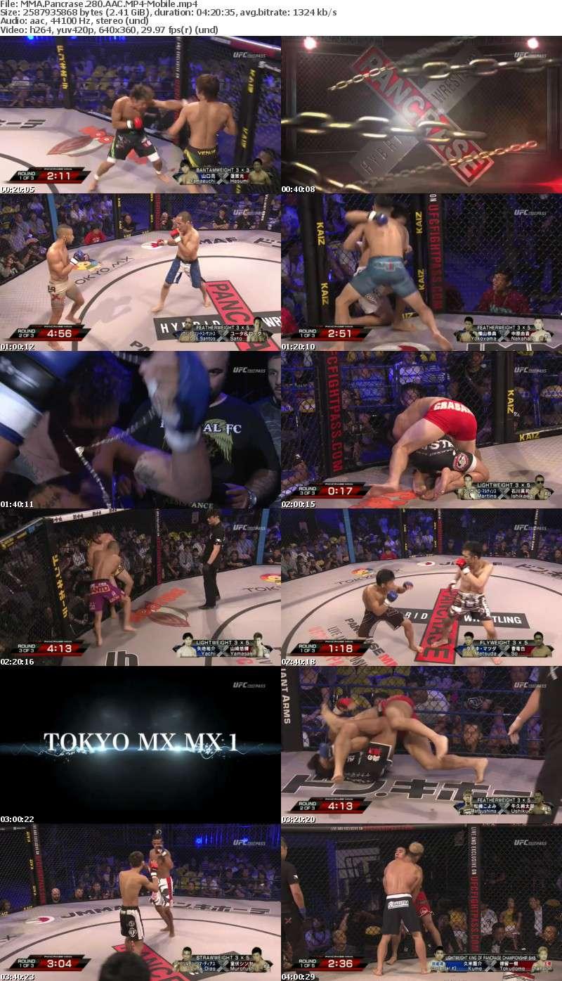 MMA Pancrase 280 AAC-Mobile
