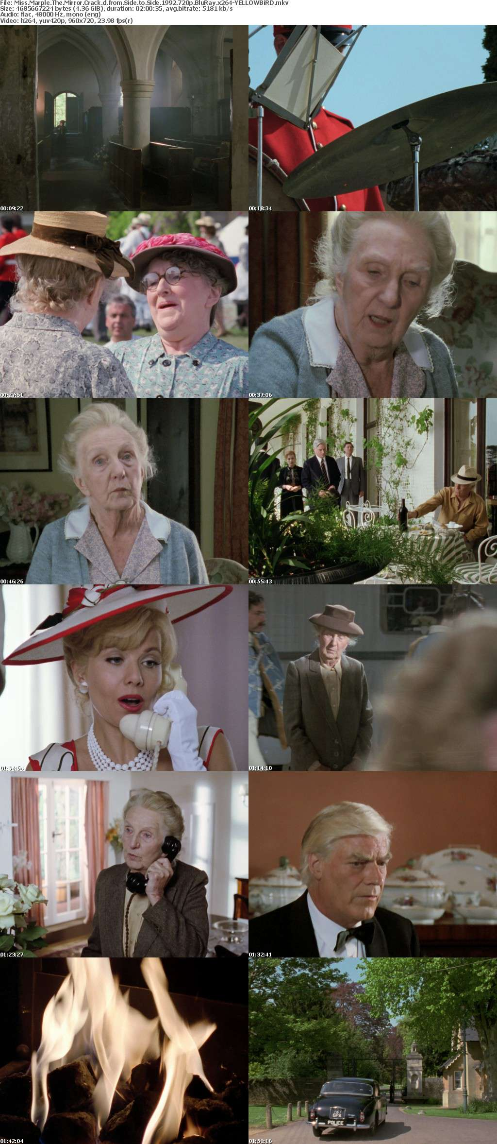 Miss Marple The Mirror Crack d from Side to Side 1992 720p BluRay x264-YELLOWBiRD
