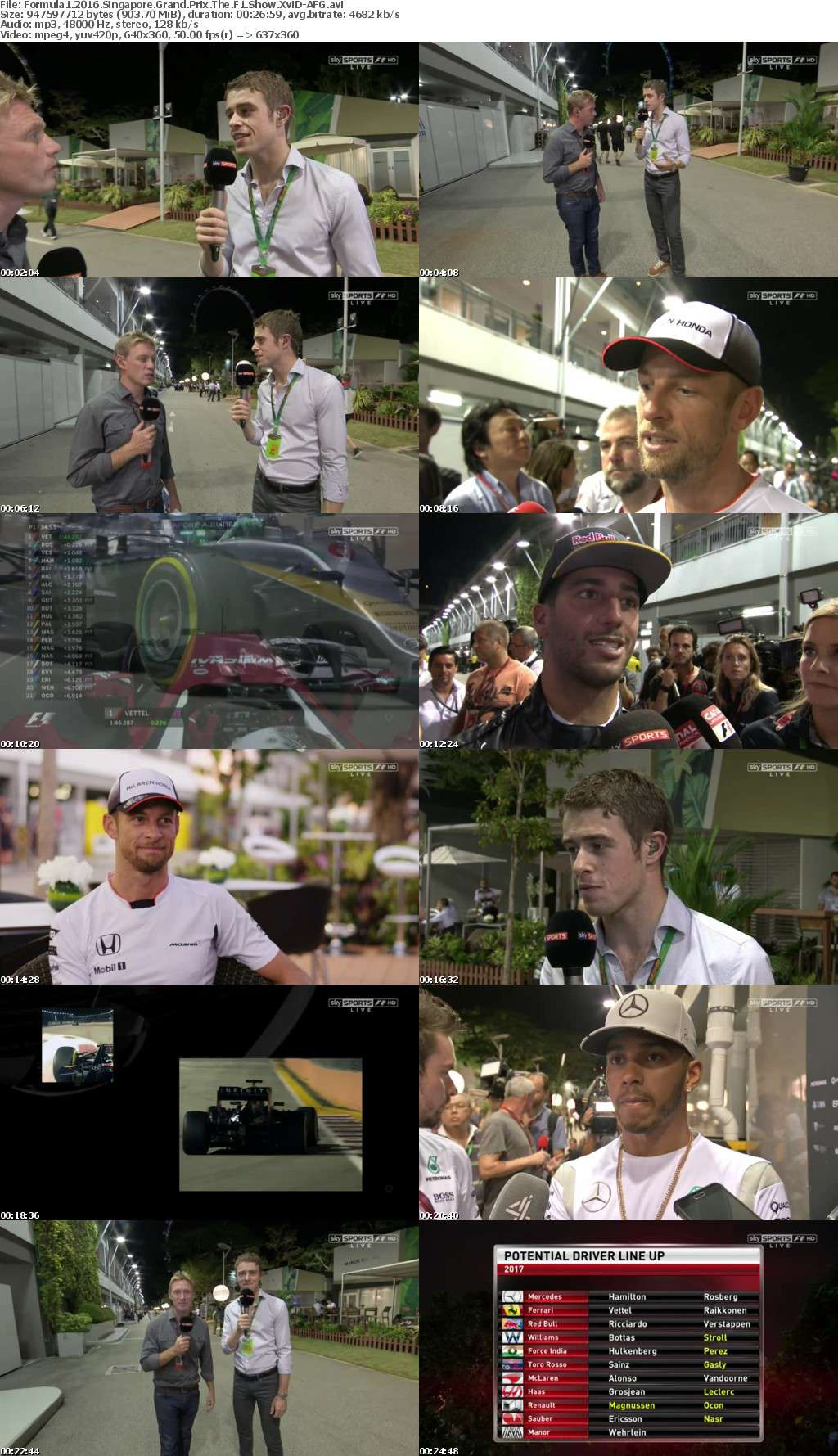 Formula1 2016 Singapore Grand Prix The F1 Show XviD-AFG