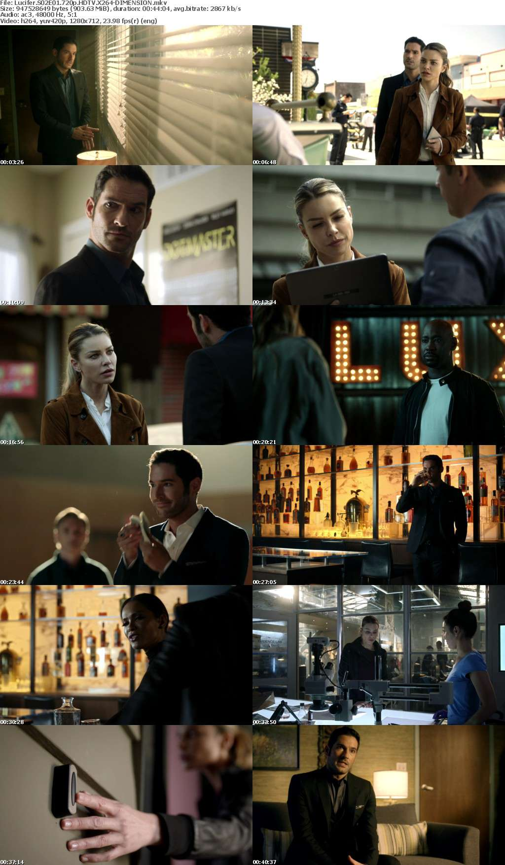 Lucifer S02E01 720p HDTV X264-DIMENSION