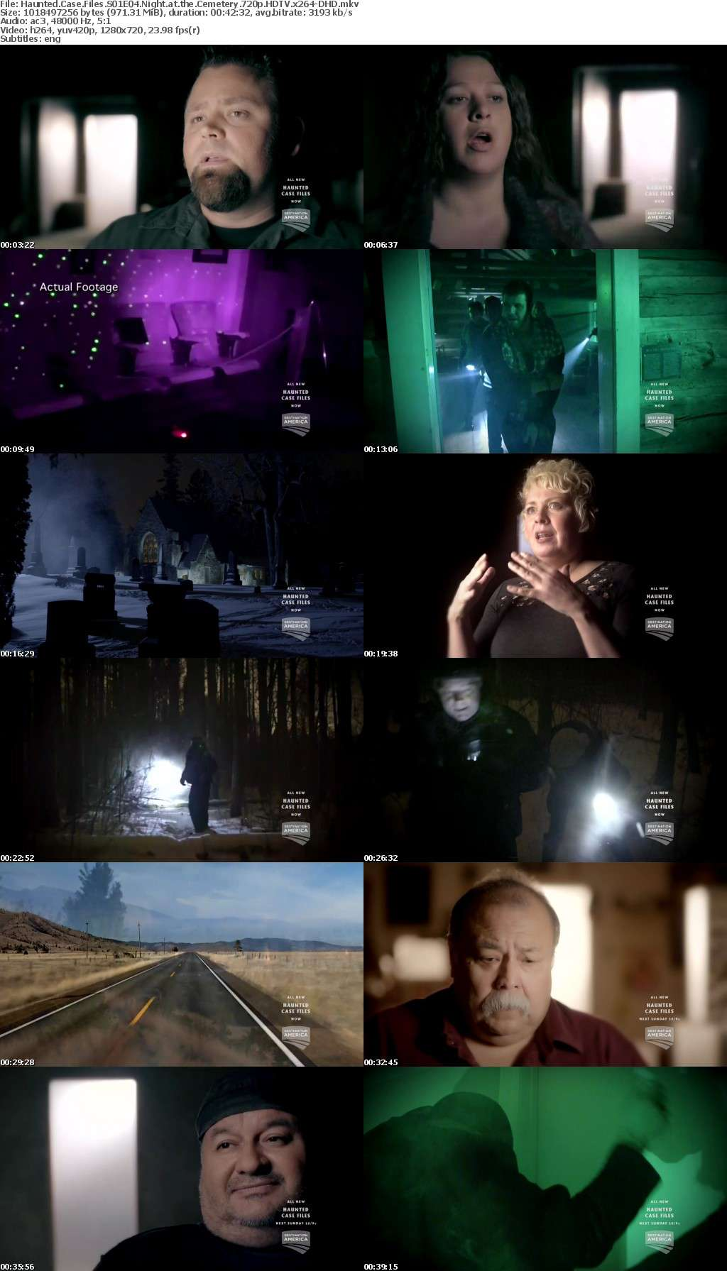 Haunted Case Files S01E04 Night at the Cemetery 720p HDTV x264-DHD