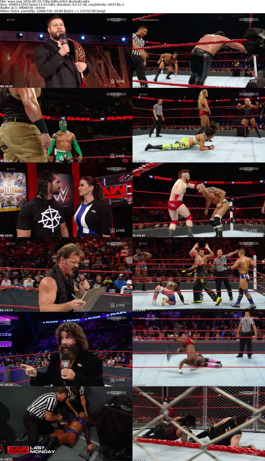 WWE RAW 2016 09 19 720p HDTV x264-AKATSUKi