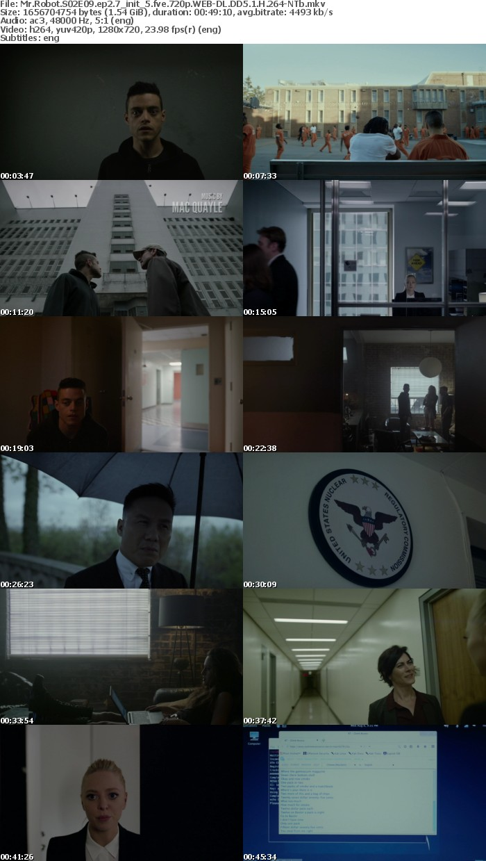 Mr Robot S02 720p WEB-DL DD5 1 H 264-NTb