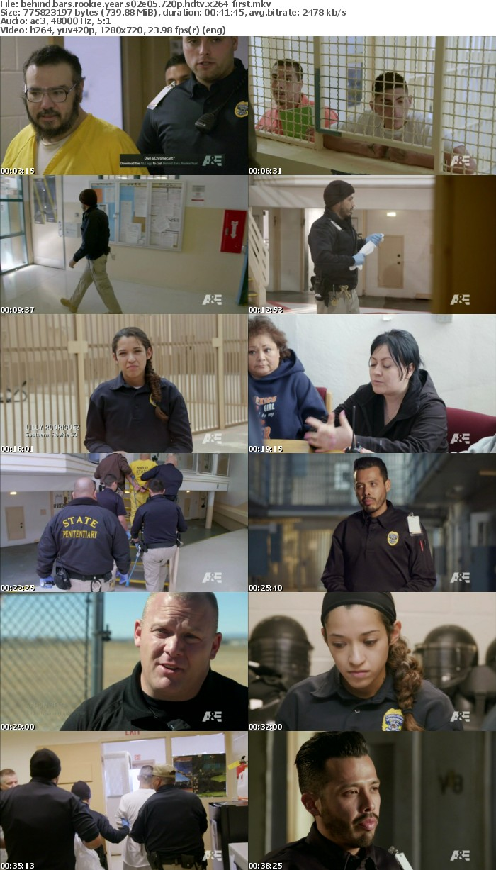 Behind Bars Rookie Year S02E05 720p HDTV x264-FIRST