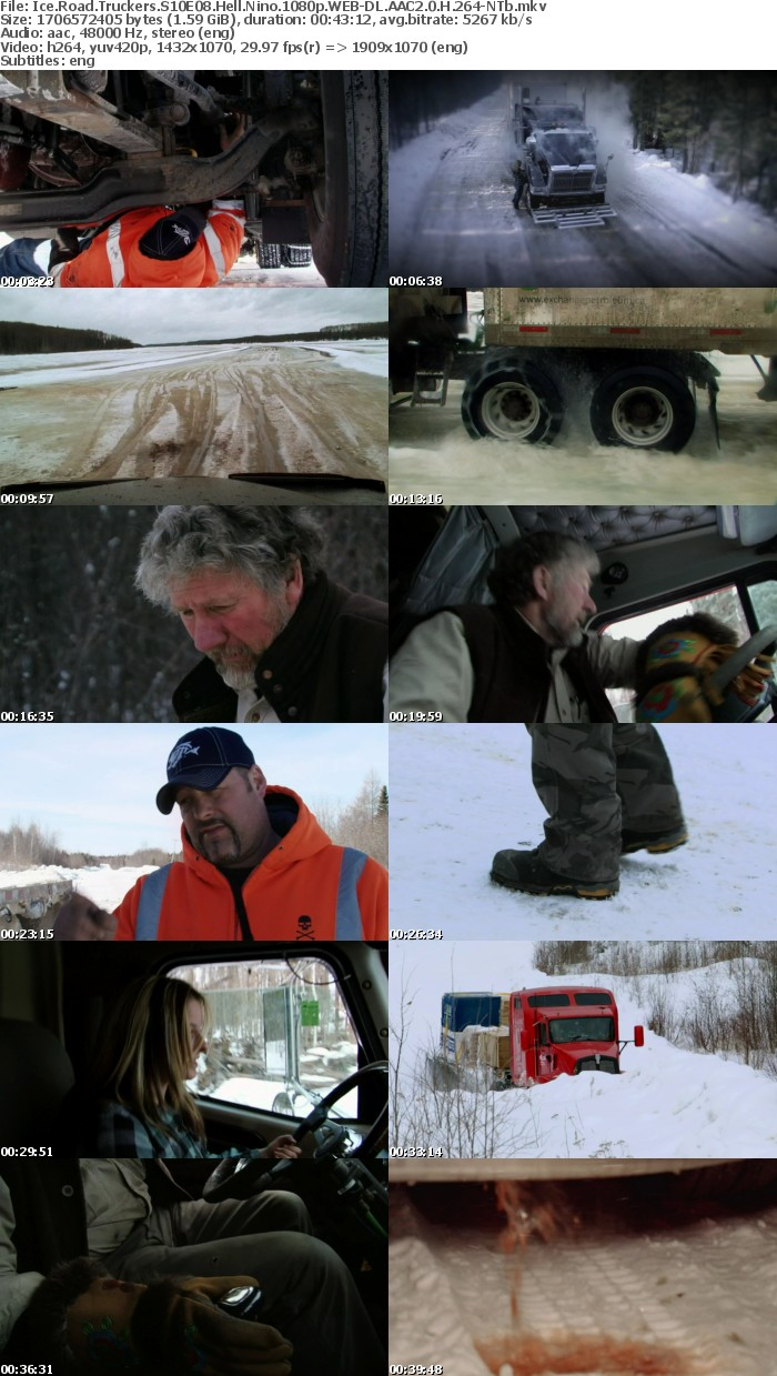 Ice Road Truckers S10E08 Hell Nino 1080p WEB-DL AAC2 0 H 264-NTb