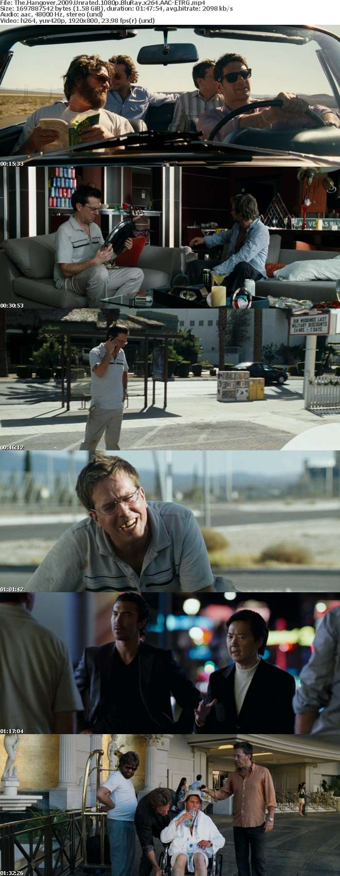 The Hangover 2009 Unrated 1080p BluRay x264 AAC ETRG