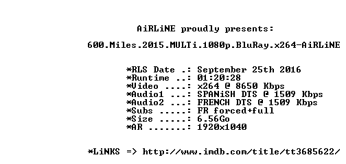 600 Miles 2015 MULTi 1080p BluRay x264-AiRLiNE