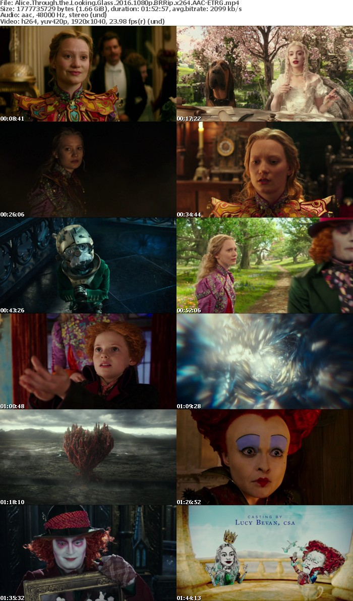 Alice Through the Looking Glass 2016 1080p BRRip x264 AAC ETRG