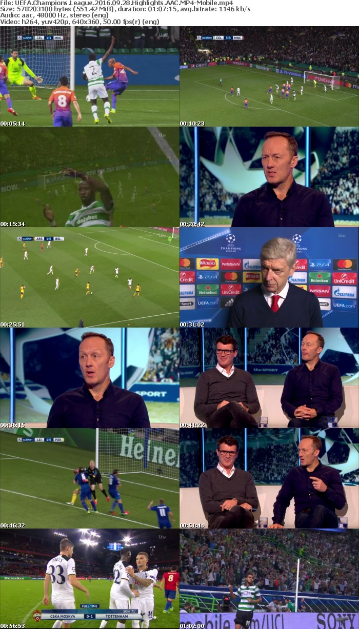UEFA Champions League 2016 09 28 Highlights AAC-Mobile