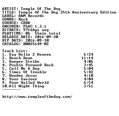 Temple Of The Dog-Temple Of The Dog 25th Anniversary Edition-DELUXE EDITION-CD-FLAC-2016-FATHEAD