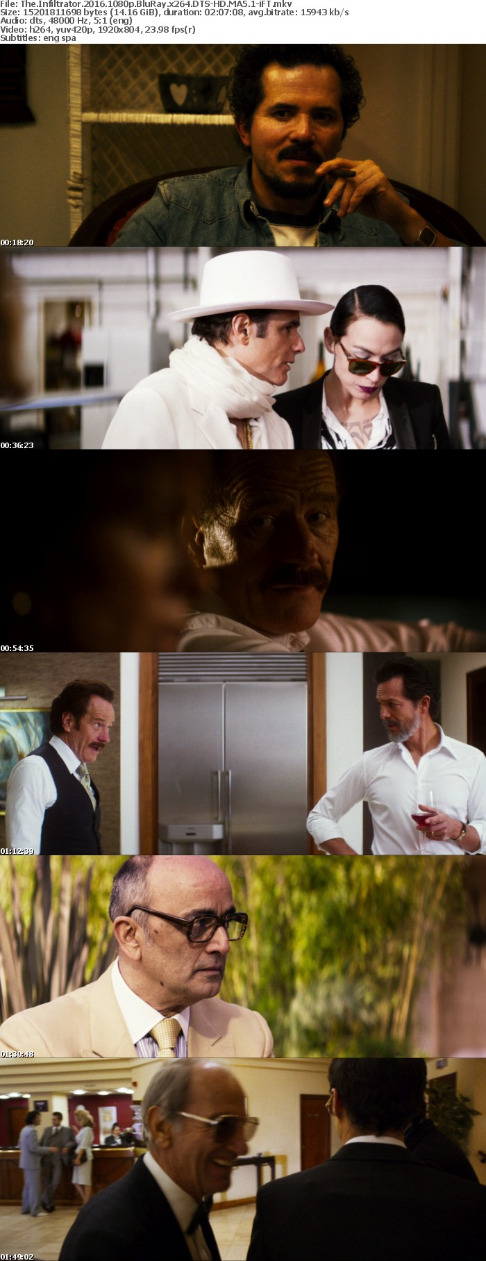 The Infiltrator 2016 1080p BluRay x264 DTS-HD MA5 1-iFT