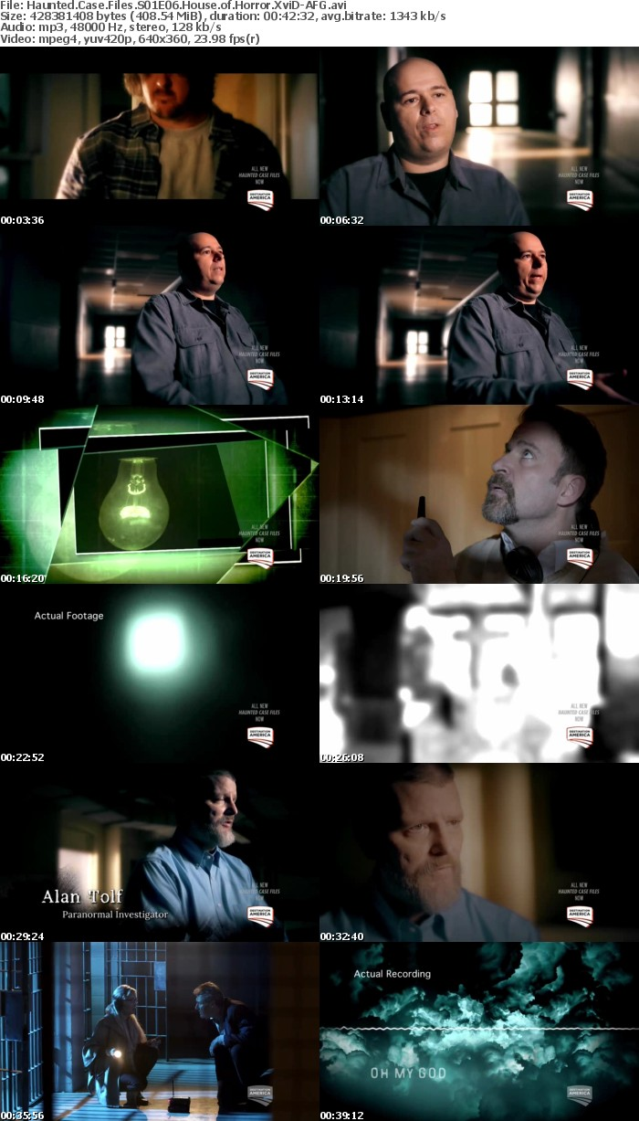 Haunted Case Files S01E06 House of Horror XviD-AFG