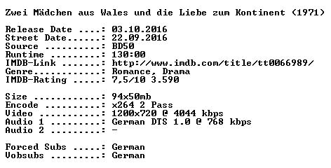 Zwei Maedchen aus Wales und die Liebe zum Kontinent 1971 German 720p BluRay x264-SPiCY