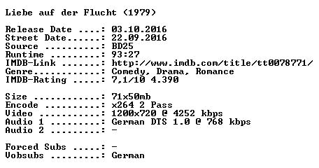 Liebe auf der Flucht 1979 German 720p BluRay x264-SPiCY