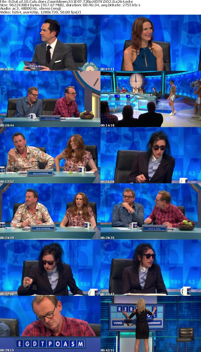 8 Out of 10 Cats does Countdown S11E07 720p HDTV DD2 0 x264