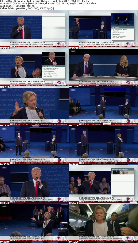 2016 US Presidential Second Debate Highlights WEB h264-ROFL