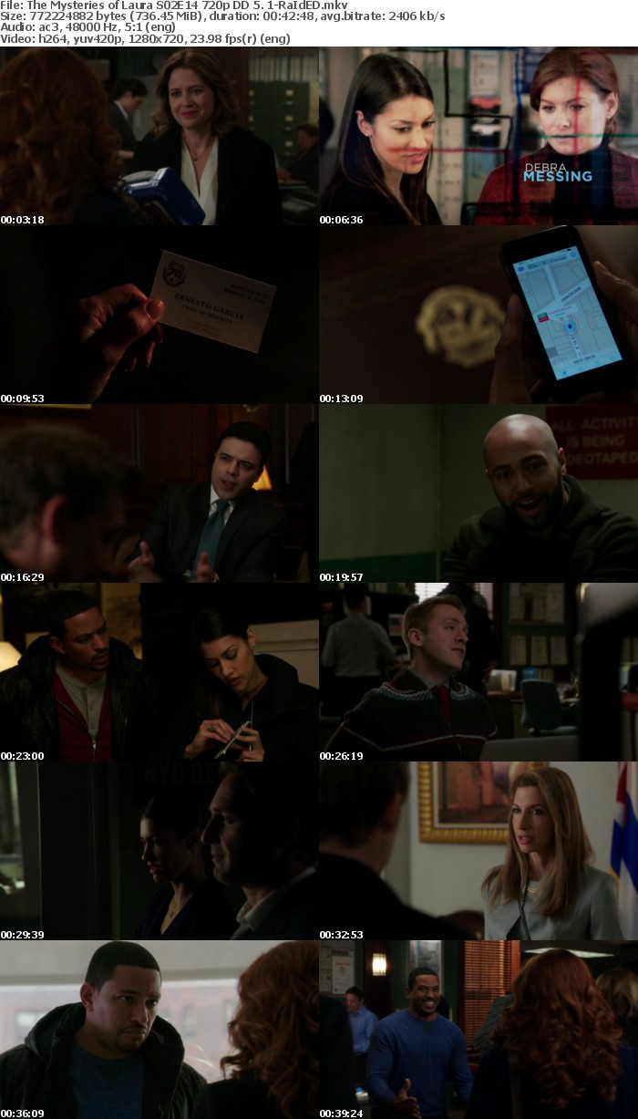 The Mysteries of Laura S02 E14-16 720p DD 5 1-RaIdED