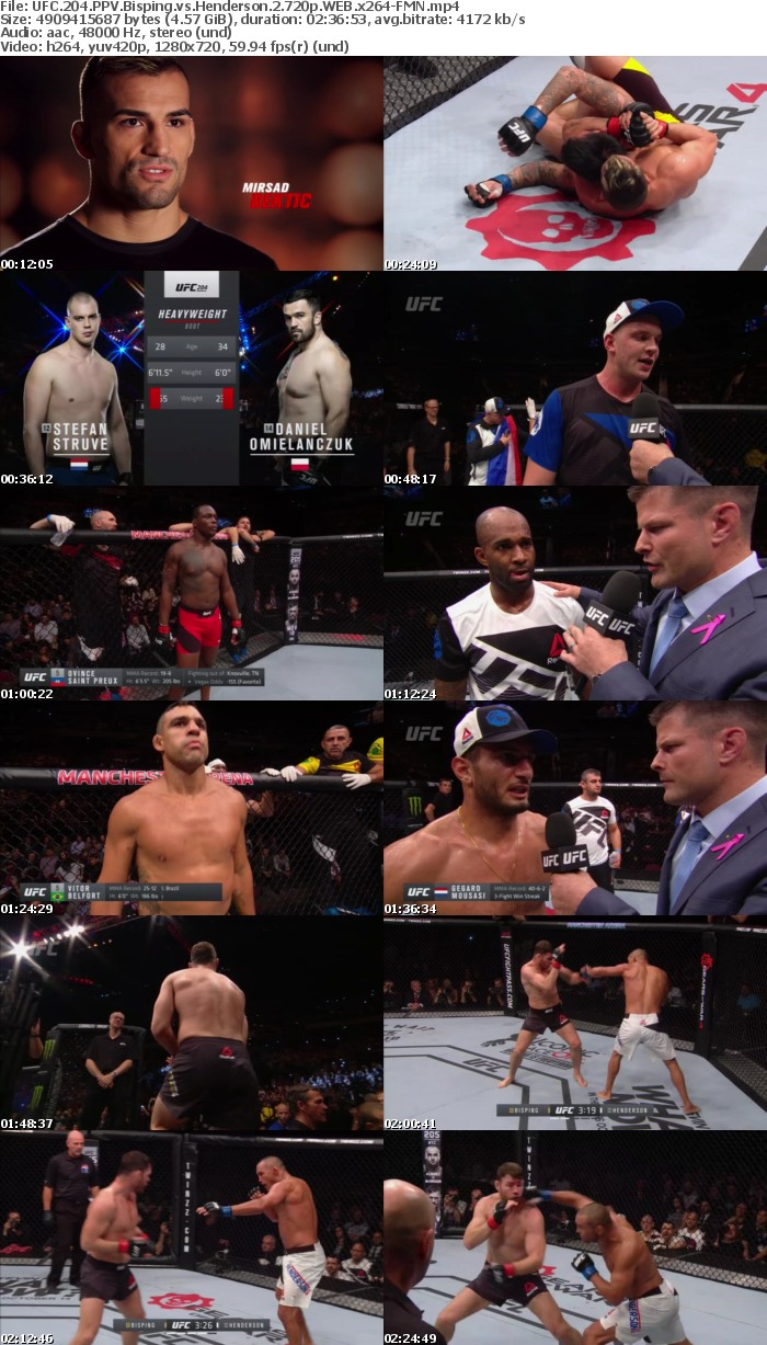 UFC 204 PPV Bisping Vs Henderson 2 720p WEB X264-FMN