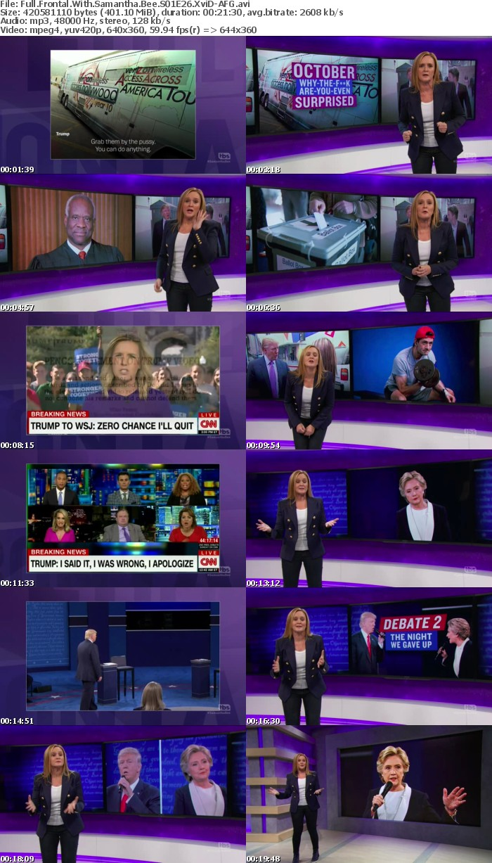 Full Frontal With Samantha Bee S01E26 XviD-AFG