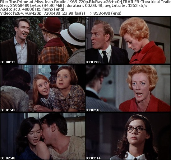 The Prime of Miss Jean Brodie 1969 720p BluRay x264-x0r