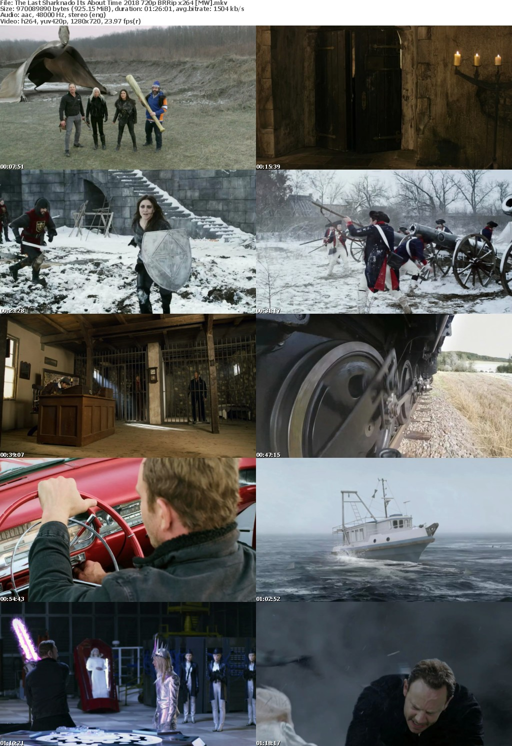 The Last Sharknado Its About Time (2018) 720p BRRip x264 MW