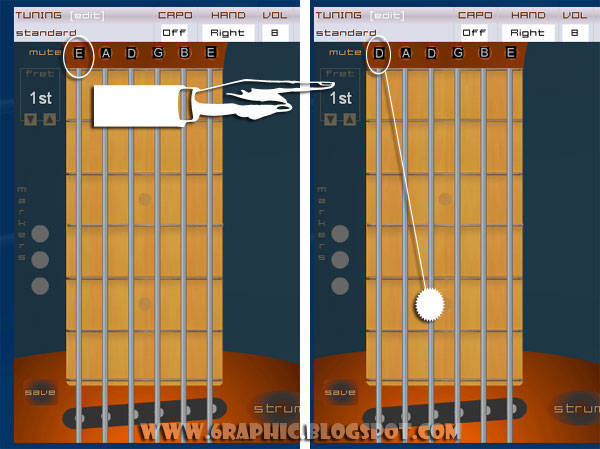 Guitar D Drop Tuning