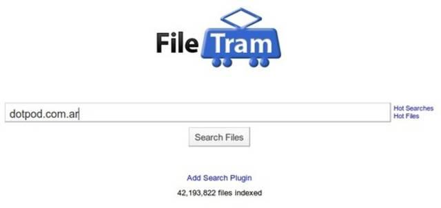 FileTram: Buscador de archivos en Rapidshare, Megaupload