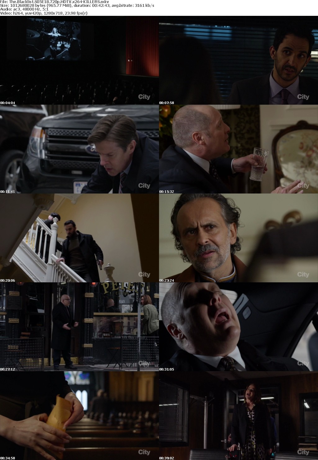 The Blacklist S05E18 720p HDTV x264-KILLERS