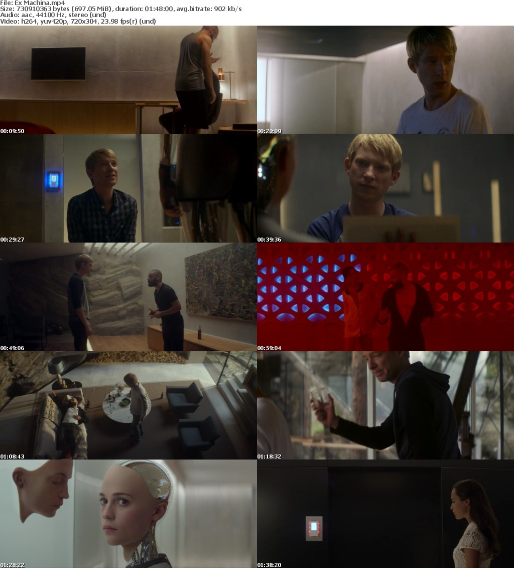 Ex Machina (2015) BRRip x264 700MB-DLW