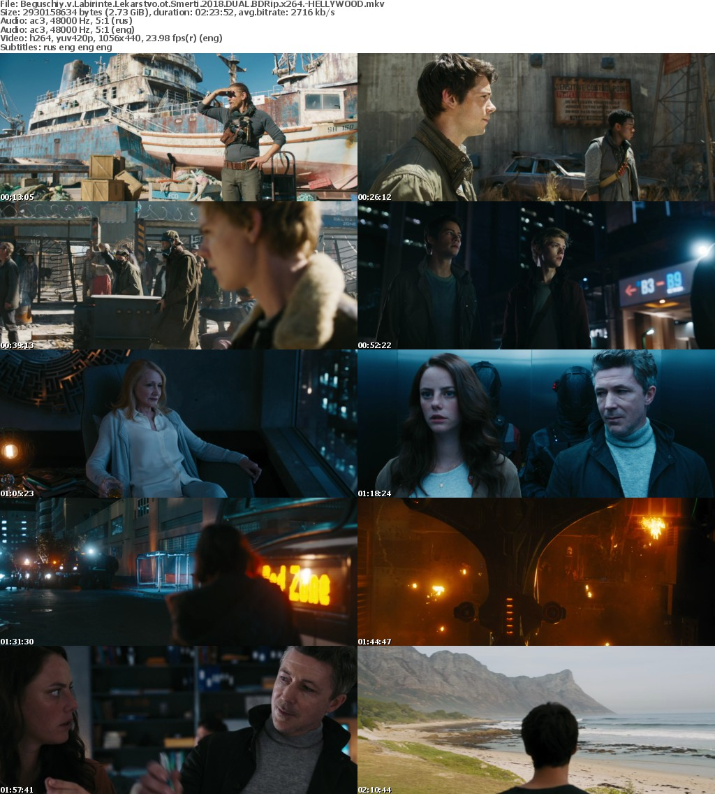 Maze Runner The Death Cure (2018) BDRip x264 Dual Audio [Rus+Eng]-HELLYWOOD