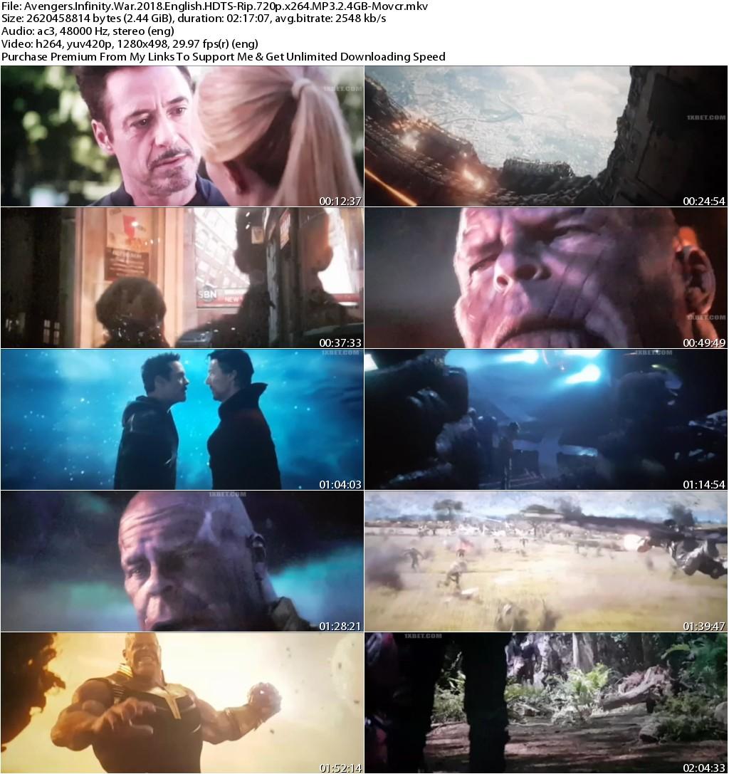 Avengers Infinity War (2018) English HDTS-Rip 720p x264 MP3 2.4GB-Movcr