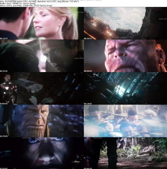 Avengers Infinity War (2018) English HDTS 720p x264 750MB AAC-Zippy