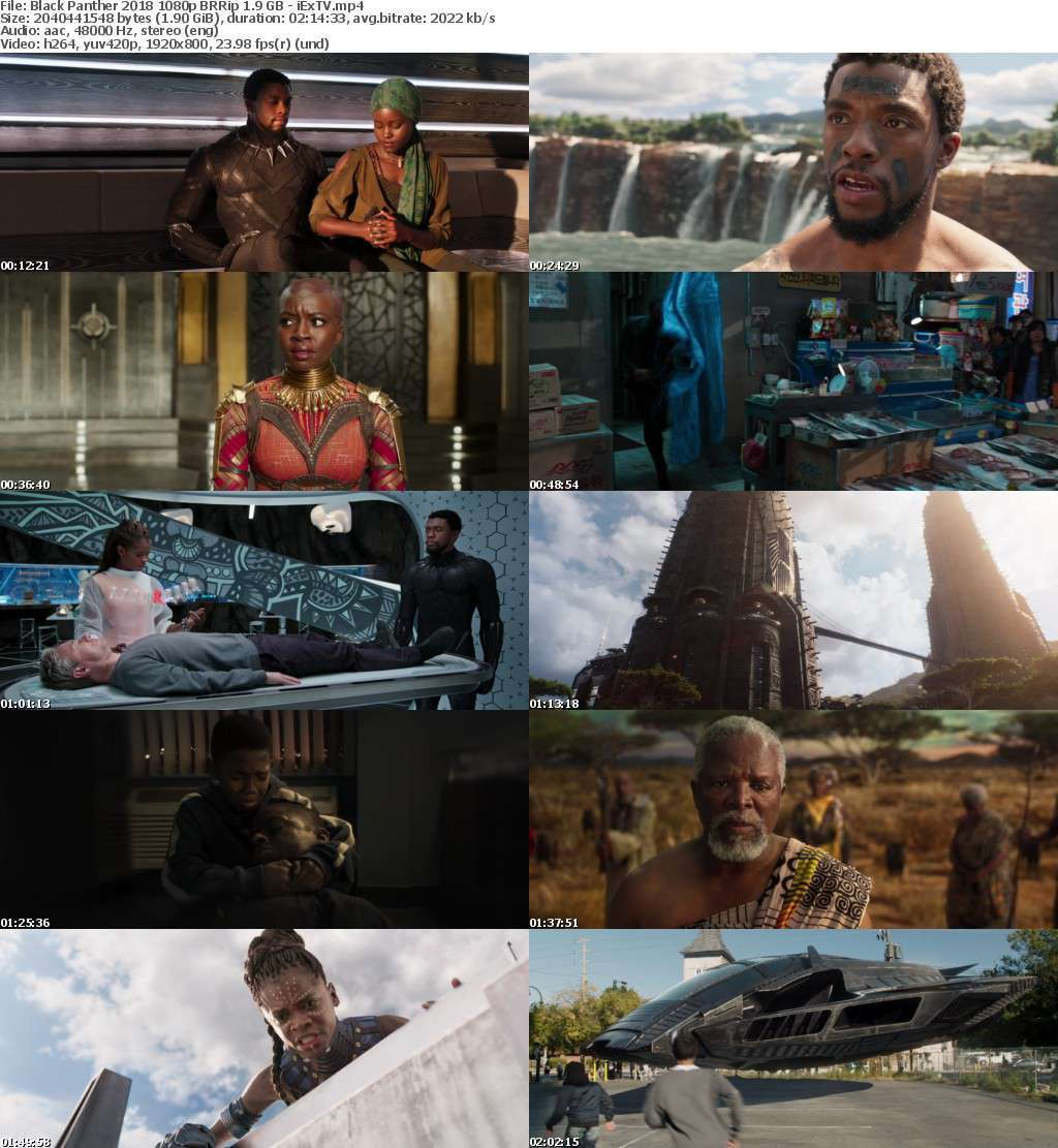 Black Panther (2018) 1080p BRRip 1.9 GB - iExTV