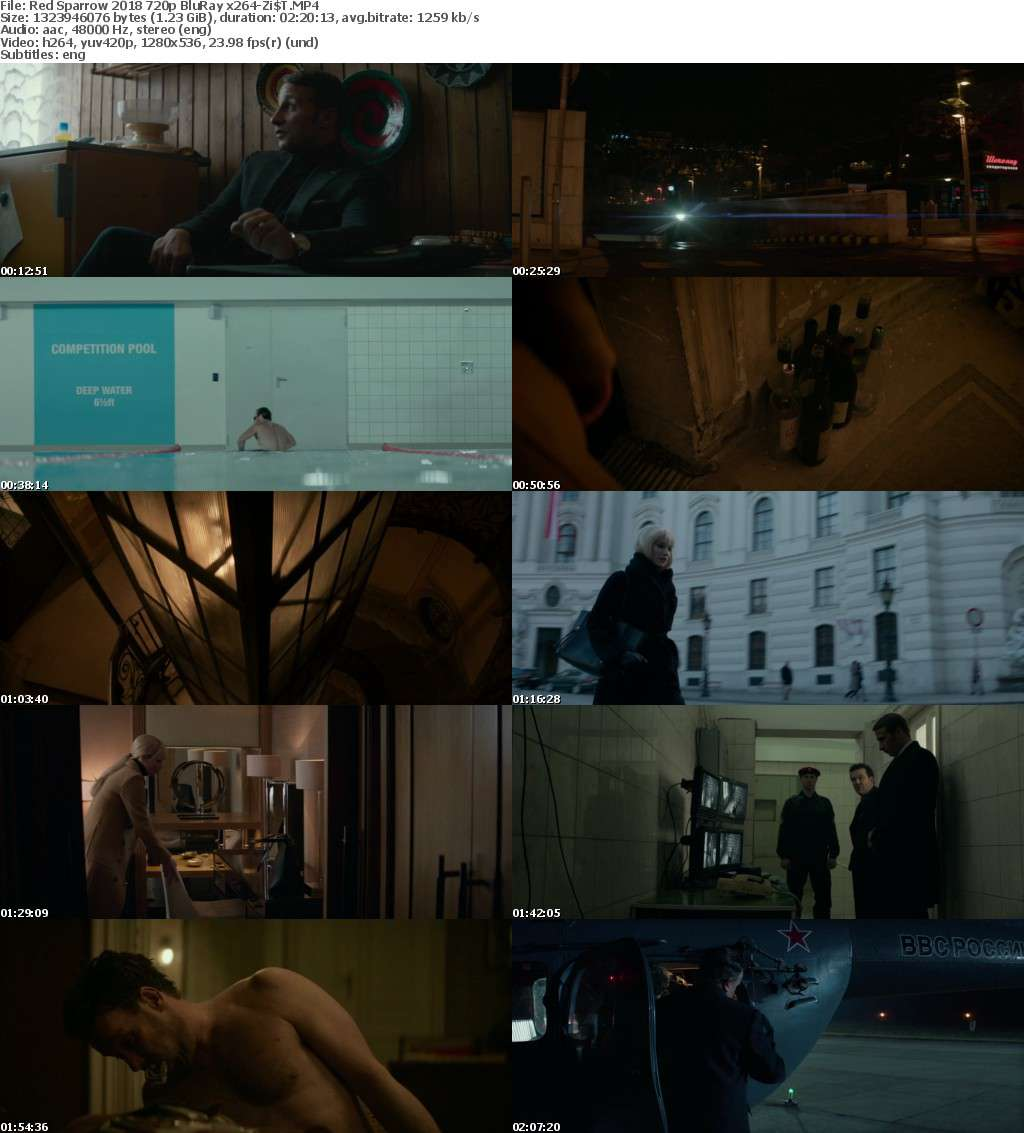 Red Sparrow (2018) 720p BluRay x264-ZiST