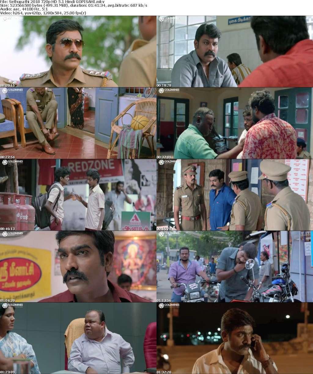 Sethupathi 2018 720p HD 5 1 Hindi GOPISAHI
