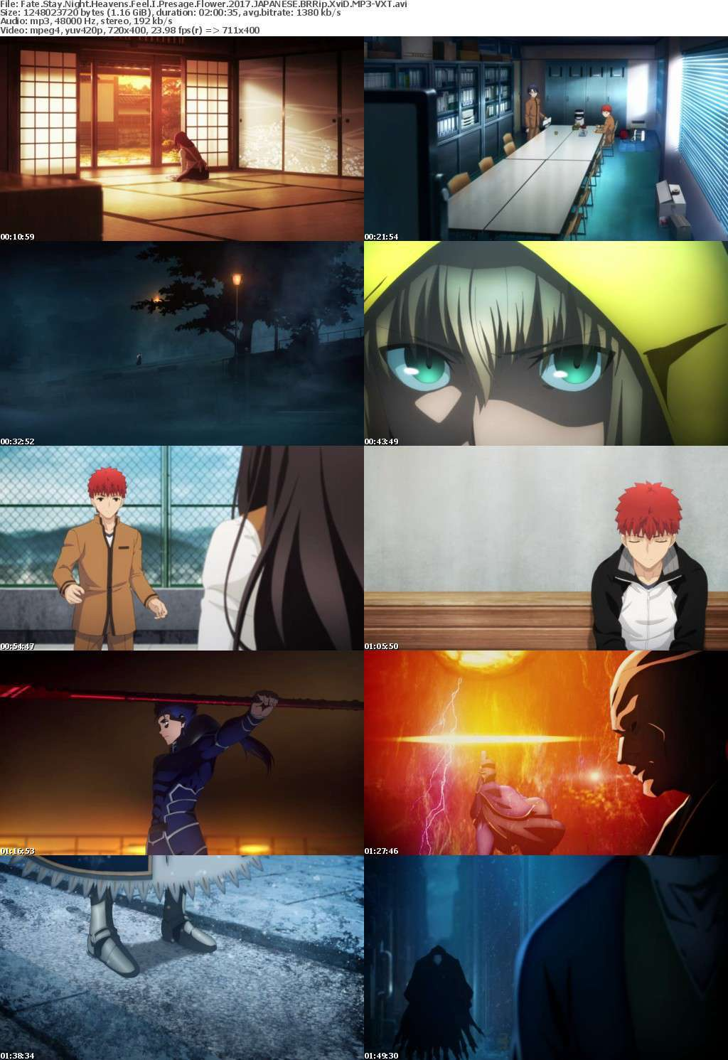 Fate Stay Night Heavens Feel I Presage Flower 2017 JAPANESE BRRip XviD MP3-VXT